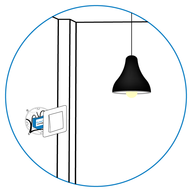 Qubino Flush Dimmer installation highlight